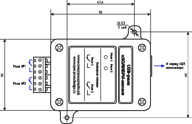 управление контактами реле от персонального компьютера
